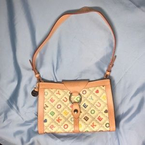 RARE 🌟 Vintage Dooney and Bourke Ring Flap Bag